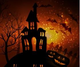 Halloween horror night background vectors 04