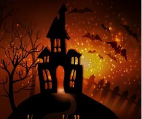 Halloween horror night background vectors 05