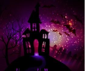 Halloween horror night background vectors 06