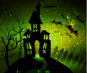 Halloween horror night background vectors 07