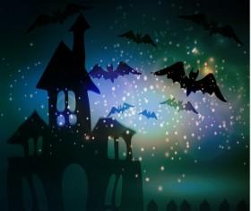 Halloween horror night background vectors 08