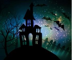 Halloween horror night background vectors 09
