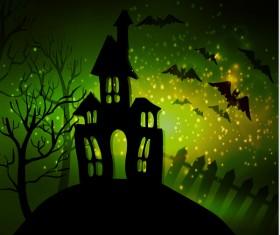 Halloween horror night background vectors 10