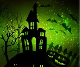 Halloween horror night background vectors 11