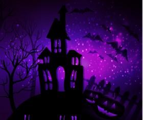 Halloween horror night background vectors 12