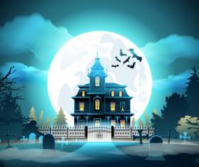 Halloween night background design vector 01