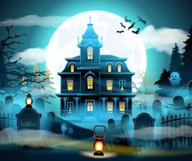 Halloween night background design vector 02