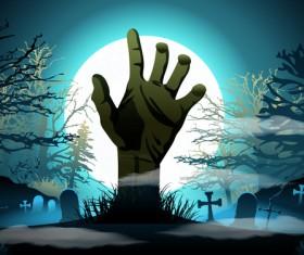 Halloween night background design vector 04