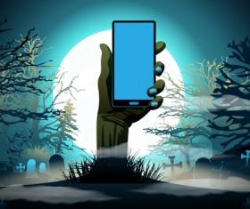Halloween night background design vector 05