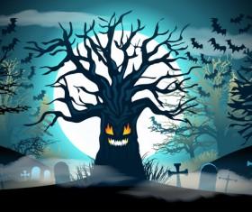 Halloween night background design vector 06