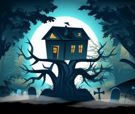Halloween night background design vector 07