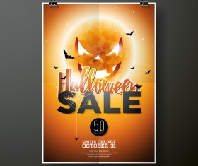 Halloween sale flayer template vectors
