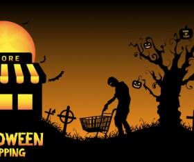 Halloween shopping design vector