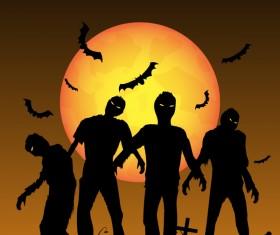 Halloween tirck of treat vector background 01