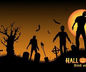 Halloween tirck of treat vector background 02