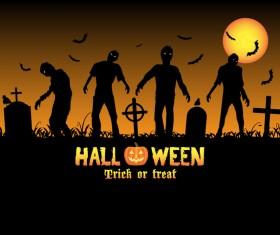 Halloween tirck of treat vector background 03