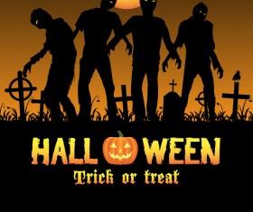 Halloween tirck of treat vector background 04