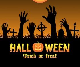 Halloween tirck of treat vector background 05