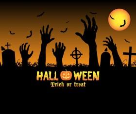 Halloween tirck of treat vector background 06