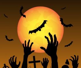 Halloween tirck of treat vector background 07