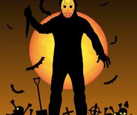 Halloween tirck of treat vector background 08