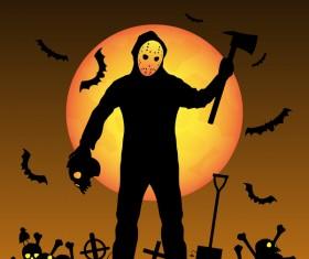 Halloween tirck of treat vector background 10