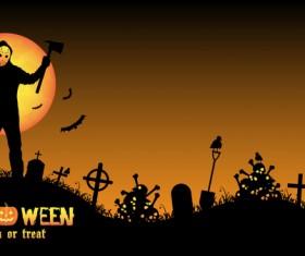Halloween tirck of treat vector background 11