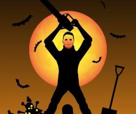 Halloween tirck of treat vector background 12