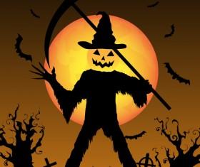 Halloween tirck of treat vector background 13