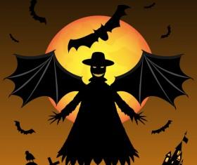 Halloween tirck of treat vector background 15