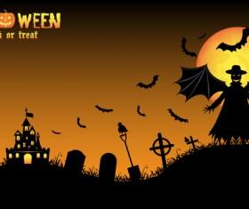 Halloween tirck of treat vector background 16