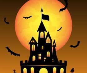 Halloween tirck of treat vector background 17