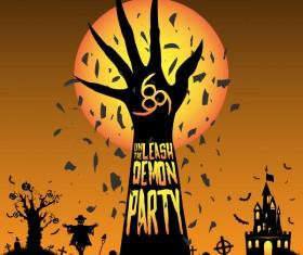 Halloween tirck of treat vector background 18