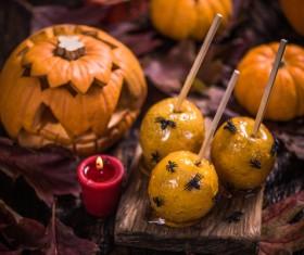 Halloween toffee apple Stock Photo 06