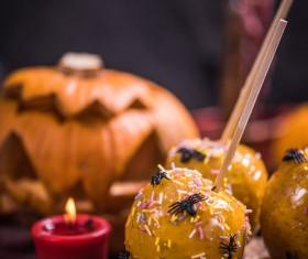Halloween toffee apple Stock Photo 07
