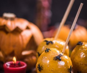 Halloween toffee apple Stock Photo 08
