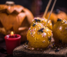 Halloween toffee apple Stock Photo 09