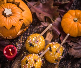 Halloween toffee apple Stock Photo 14