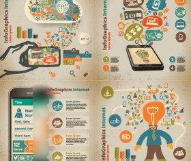Hand drawn internet infographic vectors 03