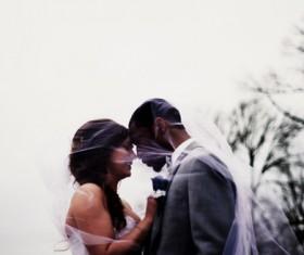 Happy couple with romantic posing Stock Photo