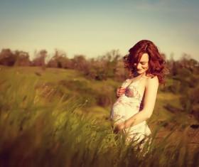 Happy pregnant woman Stock Photo 07