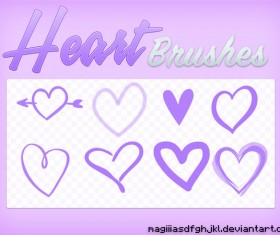 Heart Hand drawn Photoshop Brushes