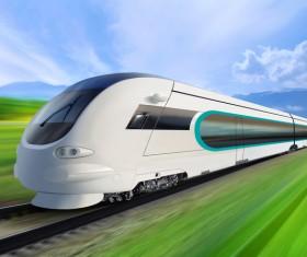 High speed pendulum train Stock Photo 01