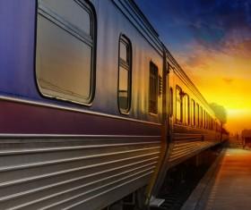 High speed pendulum train Stock Photo 02