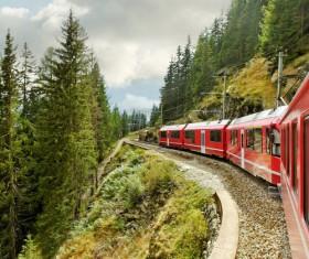 High speed pendulum train Stock Photo 03