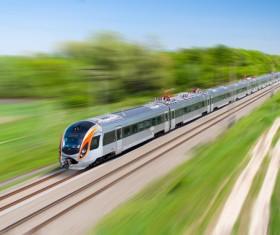 High speed pendulum train Stock Photo 04