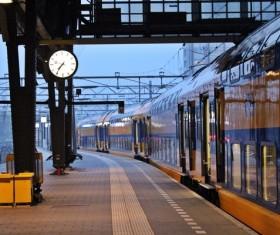 High speed pendulum train Stock Photo 05