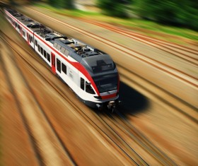 High speed pendulum train Stock Photo 06