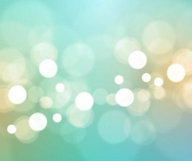 Light green bokeh vector background