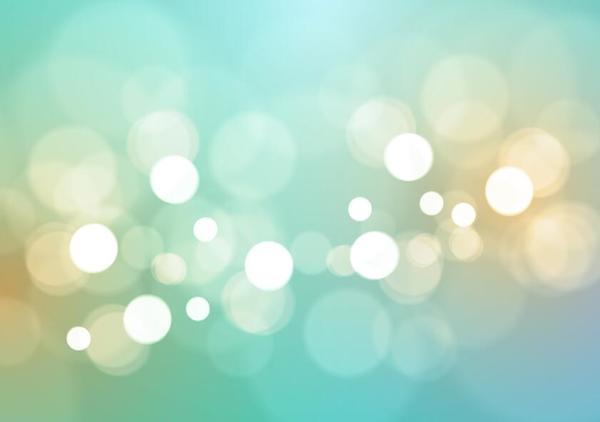 Light green bokeh vector background